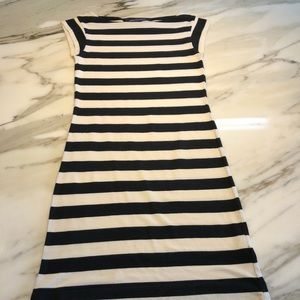 French Connection striped Boatneck Mini Dress